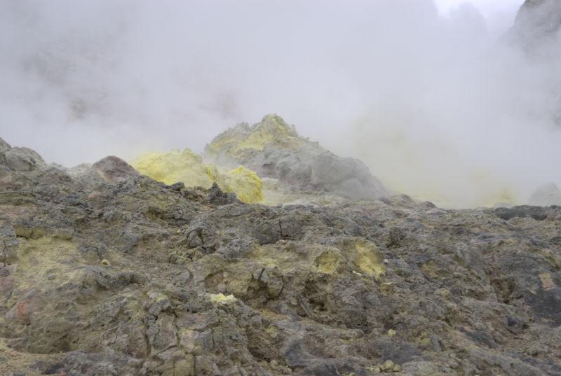 阿寒湖の硫黄山