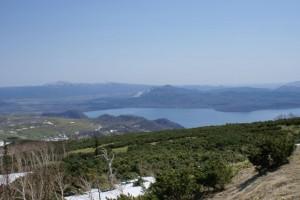 藻琴山から見る 屈斜路湖
