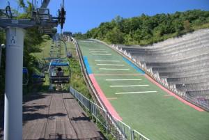 大倉山ジャンプ台 リフト乗り場