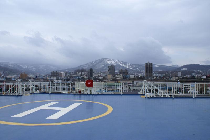 フェリー らいらっくから見る小樽の街